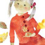 枯れ葉と赤い服の少女 1971年